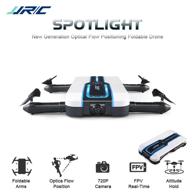 Новые JJRC H61 Spotlight WI-FI FPV с 720 P Камера мини селфи Дрон оптического потока позиционирование 6 оси RC складная Quadcopter