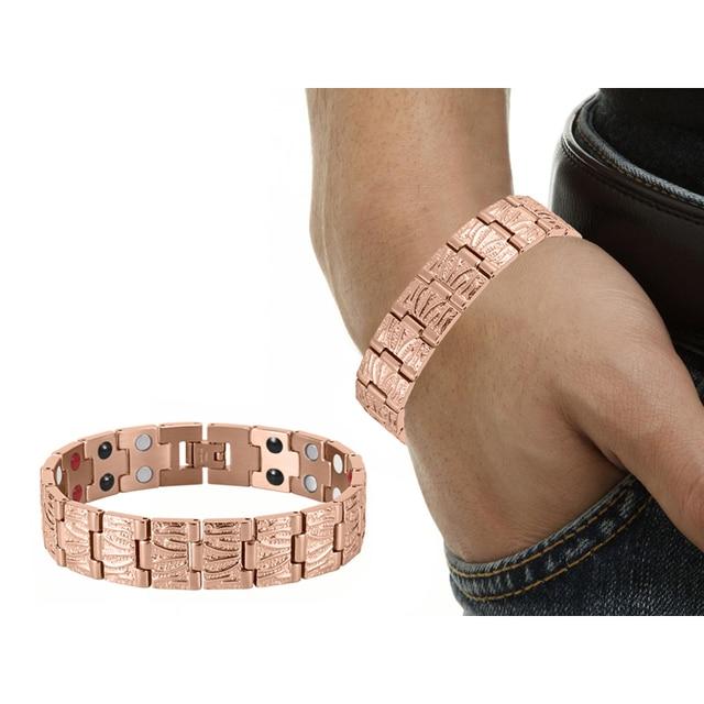 HTB1oGn RVXXXXajXVXXq6xXFXXXj - RainSo Titanium Magnetic Bracelets & Bangle 2 Row Health Care Elements Germanium Healing Bracelet Health Hologram Wristbands
