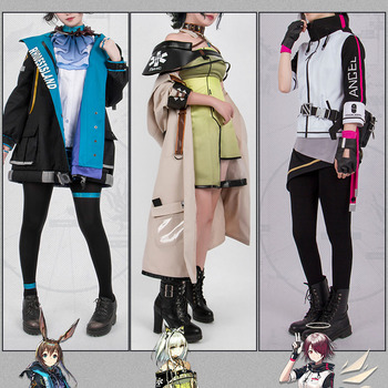 VEVEFHUANG CosplayLove Hot Game Arknights EXUSIAI KALTSIT AMIYA Uniform Cosplay Costume For Girls Women Christmas Halloween 2