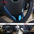 Чехол на руль Tonlinker для TOYOTA Corolla Altis 2014-18  1 шт.  наклейки из нержавеющей стали