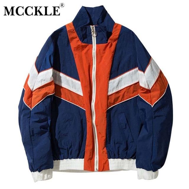 Hip Hop Bomber Men's Jacket Coat Long Sleeve Patchwork Baseball Block Jackets Coats For Mens 2019 Summer Male Streetwear Clothes