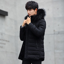 Long-necked cotton-padded coat, new men's cotton-padded padded winter coat, Korean version of the trend of handsome cotton jacke the counter brand quality original design in the winter 2015 easing the big yards of cotton linen women cotton padded clothes