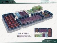 multifunctional combination fitness sport trampoline,customized amusement trampoline,indoor playground center