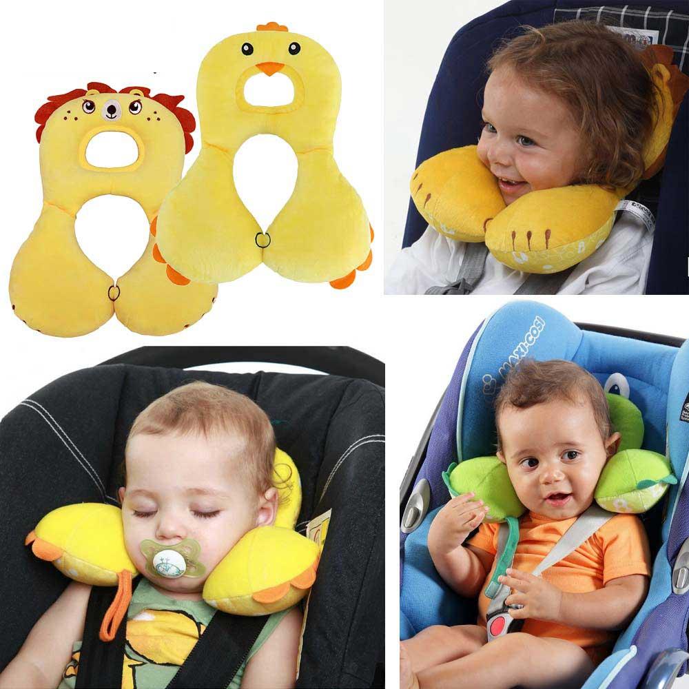 Animale del fumetto 1-4Y Bambino Che Modella il Cuscino Infantile Sleeping Car Poggiatesta Protezione del Collo a forma di U Cuscini Passeggino Accessori
