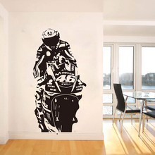 Valentino Rossi Wall Sticker Mural VR The Doctor Motor Race Wall Decal Kids Room Motorcycle Racing Sport Living Room Decor J039