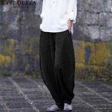 Повседневные Свободные мешковатые штаны женские в китайском стиле однотонное цветные шаровары с эластичной резинкой на талии негабаритные широкие брюки AA2836 YQ