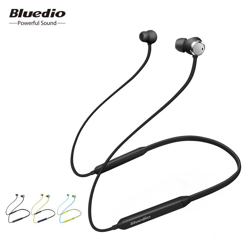 Bluedio TN auricular Bluetooth inalámbrico cancelación activa de ruido de banda para el cuello BT4.2 deporte del auricular con potente bajo para teléfono celular