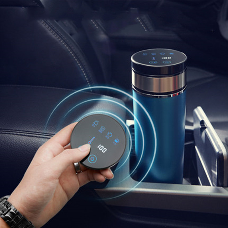 Portable 350ml Car Auto Heating Cup Adjustable Temperature Car Boiling Mug Electric Kettle Boiling Vehicle Thermos
