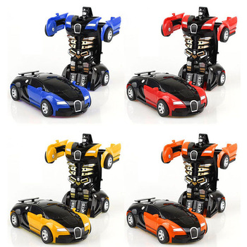 Plastic Mini Transformation Robot Car Toy For Boys Action Figure Collision Transform Inertial Car Vehicle Deformation Model Toys цена 2017