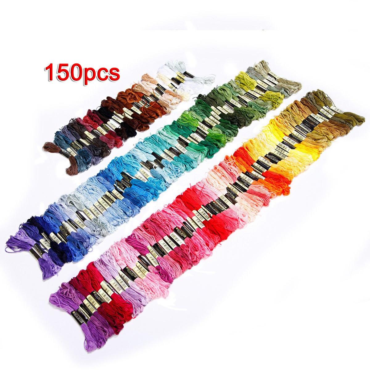 150 madejas de hilo bordado multicolor para punto de cruz