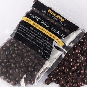 1 Bag Chocolate Flavor No Strip Depilatory Hot Film Hard Wax Pellet Waxing Bikini Hair Removal Bean 100g Depilation Paste