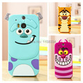For HTC ONE M8 Case hot sulley tiger alice cat 3D rubber cell phone cases cover for htc one m8 Case Cover free shipping