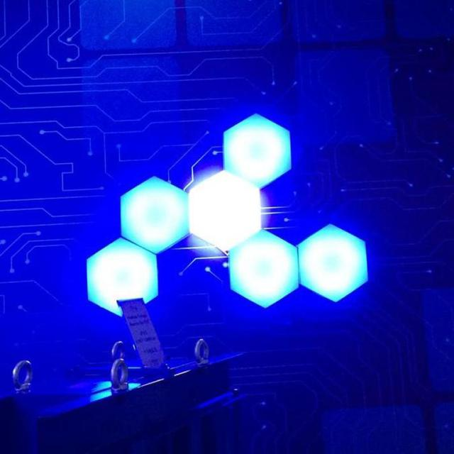 modern creative geometry honeycomb 12w 30cm led hexagon lamp ceiling