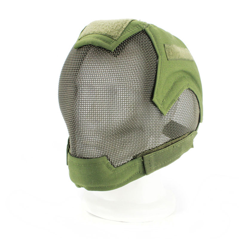 Military Tactical Mask Full Face Metal Steel Wire Mesh Combat Mask For Airsoft Paintball Wargame Outdoor Special Summer Sale Back To Search Resultshome