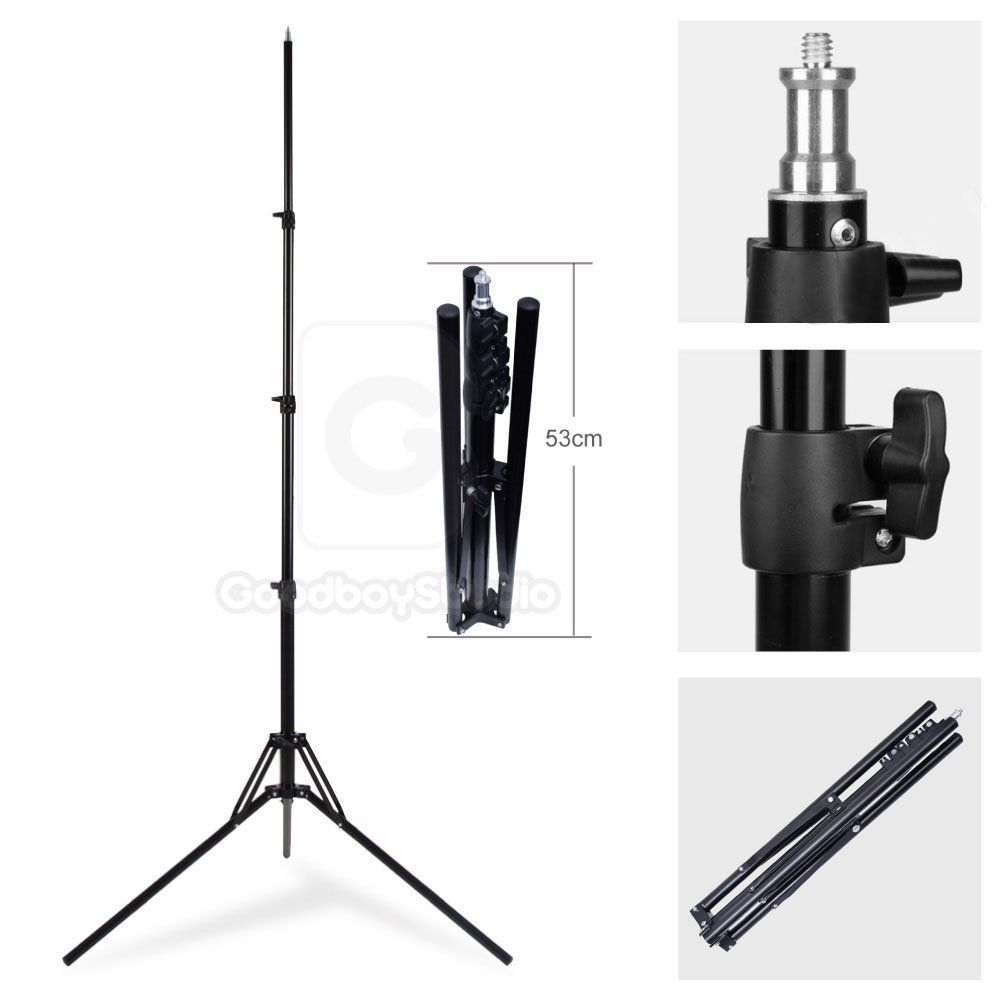 Godox 185cm 6' Collapsible Light Stand for Photo Studio Photo Lighting Flash Strobe Ring Light