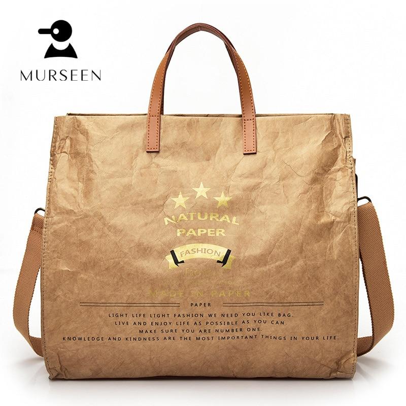 High Quality Waterproof technology Women Paper Bag Shoulder Bags Fashion Solid Big Handbag Large Capacity Top-handBags Herald #9