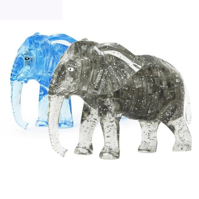 Diy 3D кристалл слон блоки 41 шт. головоломки головоломку игрушки для детей подарок