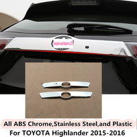 For Toyota Highlander 2015 2016 Car Body Styling Cover Detector ABS Trunk Rear License Plate Door