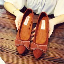 Women Ballet Flats Shoes New Spring Pregnant Boat For Work Cloth Sweet Bow Loafers Slip On