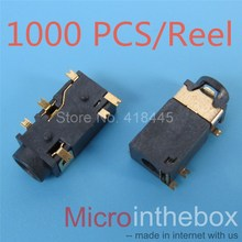 1000PCS/REEL 3.5mm Audio Jack connecotr 6Pin SMD SMT Phone jack Stereo Female Sockect 3.5 Headphone Connector 342