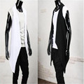 Sleeveless cardigan vest thin jacket tide male large yards nightclub irregular vest shawl in the long paragraph