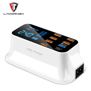 Wireless-Charger Station Desk-Phone-Organizer Charging-Dock Usb-Ports Multiple iPhone