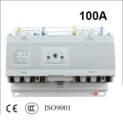100A 4 poles 3 phase ats 220V/ 230V/380V/440V automatic transfer switch without controller