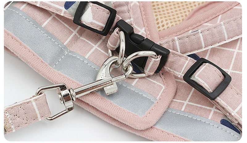 1Pc Reflective Small Dog Harness With Leash