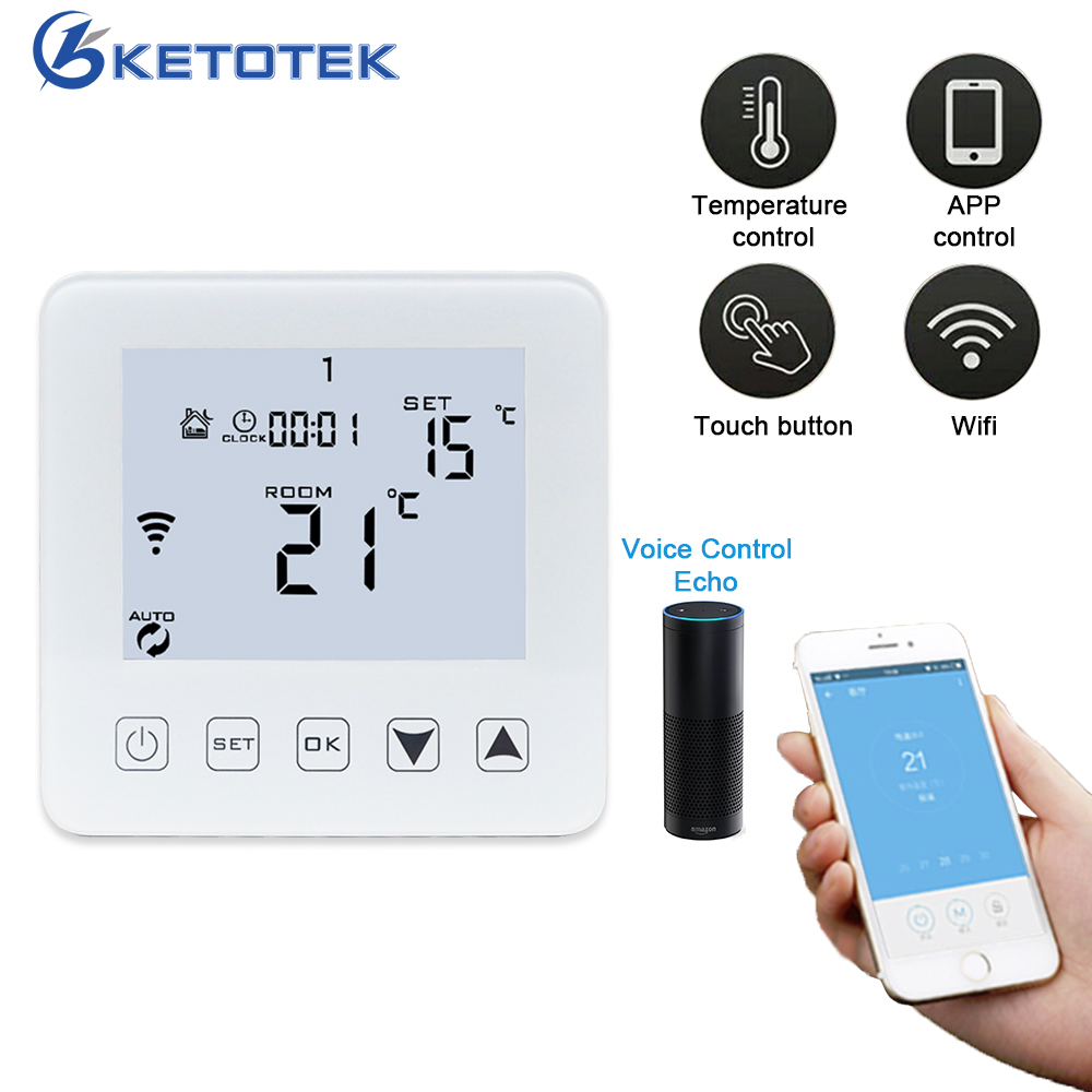 Smart Thermostat WiFi Wireless Temperature Controller APP Controls 16A Electric Floor Heating For Warm Room Thermoregulator