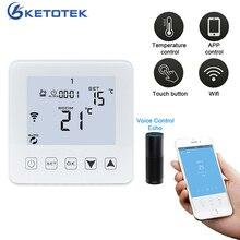 Termostato inteligente, termostato inteligente wifi controlador de temperatura sem fio aplicativo controla 16a piso elétrico aquecimento para sala quente termoregulador