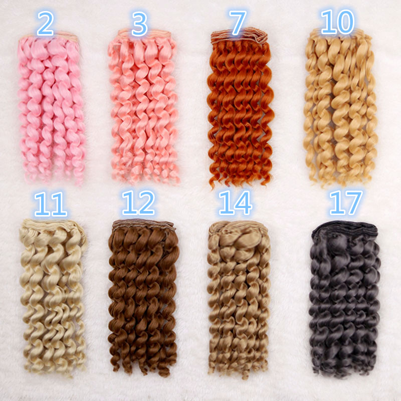 1 pcs 15cm 1/3 1/4 1/6 BJD SD doll wigs Blyth Salon doll hair High-temperature wire fiber Hair kinky curly hair Fapai wigs
