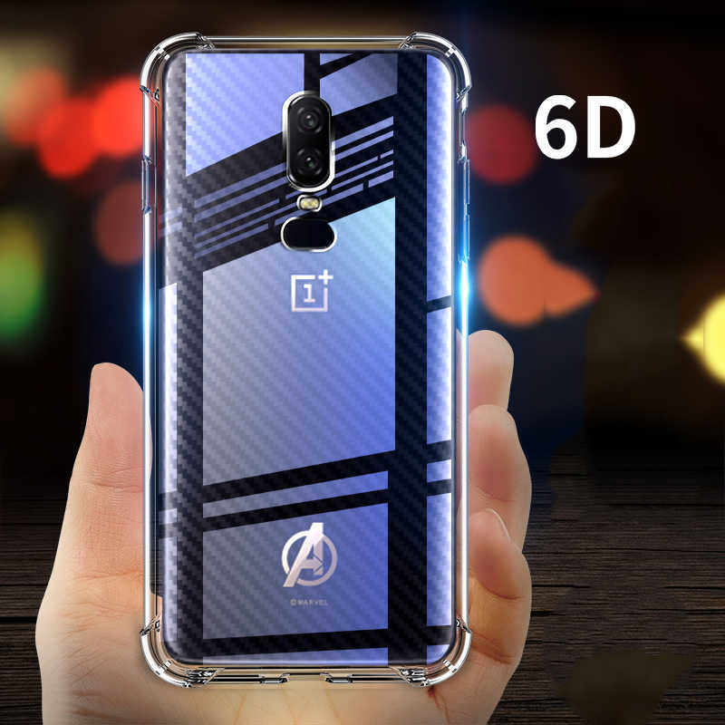 0c5cc3fe4b For Oneplus 6 Case [Air Cushion] Military Protection TPU Cover Shockproof  Soft One Plus