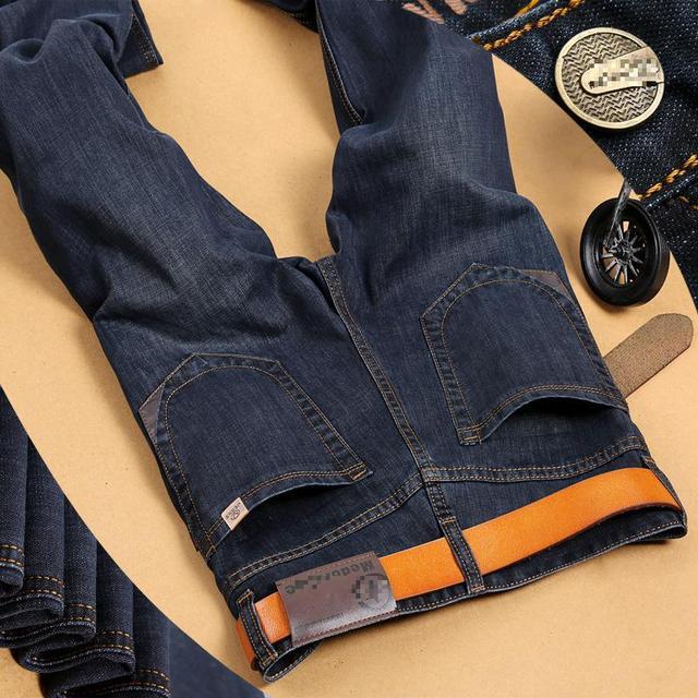Blue Black Jeans Male Cotton Men s Jeans Famous Brand Trousers Jeans  Designer Jeans Men High Quality 8be07cb86f23