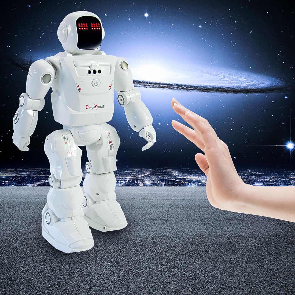RC หุ่นยนต์ชั้นนำ RC2108 สมาร์ทเต้นรำหุ่นยนต์ Motion ควบคุมโปรแกรมการกระทำ Facial Light เสียง RC ของเล่นเด็กของขวัญ