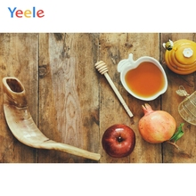 Yeele Jewish New Year Rosh Hashanah Photography Backdrop Pomegranate Shofar Honey Photographic Background For Photo Studio