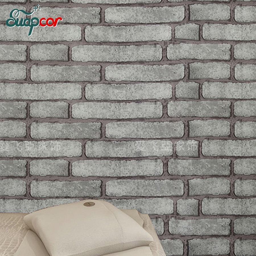 0,45 * 5M Γκρι vintage Αυτοκόλλητο Brick - Διακόσμηση σπιτιού