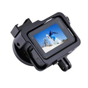 Image 5 - PULUZ Behuizing Shell Voor GoPro HERO 5 6 7 Zwart CNC Aluminium Harde Beschermende Kooi Frame Case Voor GoPro hero 2018