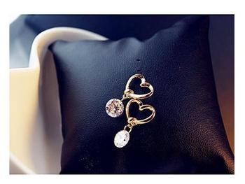 2018 New Fashion Crystal Earrings for Women Pearl Women Branch Shell Pearl Flower Stud Earrings Female 1