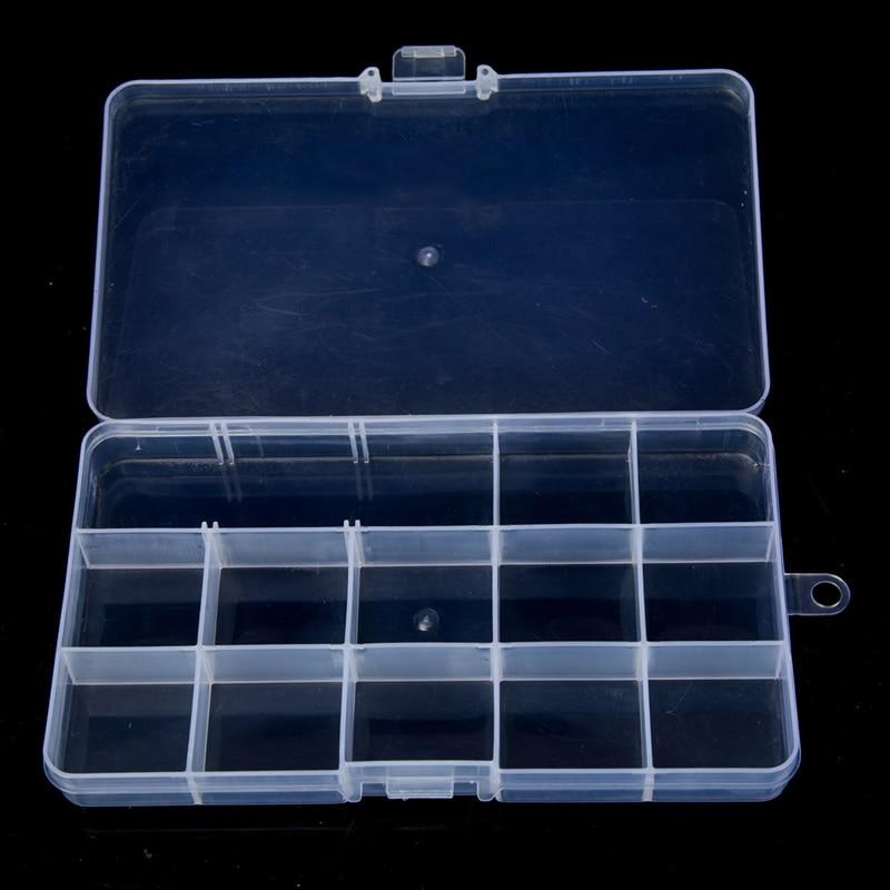 15 ячеек Регулируемая Ювелирные изделия Бусины таблетки Дизайн ногтей советы дома организовать хранение Пластик Box Дело