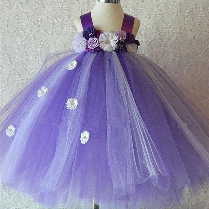 ᐃFlores Niñas Tutu vestido Princesa Sofia vestido elegante boda ...