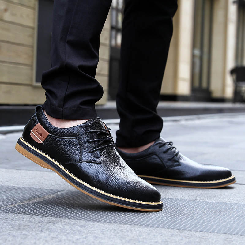 HTB1oGr4c3KG3KVjSZFLq6yMvXXaE 2019 New Men Oxford Genuine Leather Dress Shoes Brogue Lace Up Flats Male Casual Shoes Footwear Loafers Men Big Size 39-48