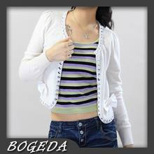 Cashmere sweater Women's short Cardigan with shinny diamonds White Natural fabric High Quality Stock clearance Free shipping