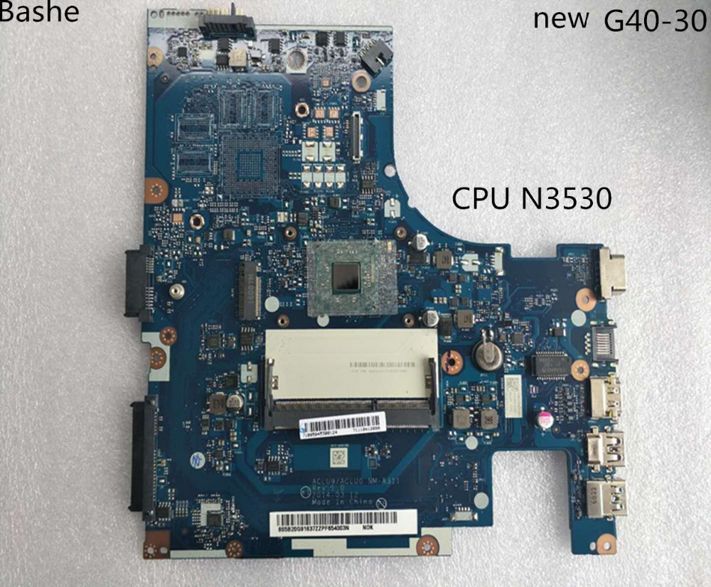 Nuevo!Envio gratis aclu9 / aclu0 nm - A311 G40 - 30 laptop Motherboard, Tarjeta madre Motherboard para Lenovo (para CPU Intel n