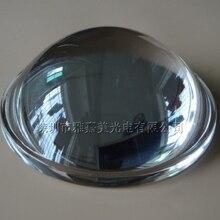 10 Вт-100 Вт светодиодные стеклянные линзы 78 мм Фокусирующая оптическая стеклянная линза, высокая мощность светодиодный выпуклая линза
