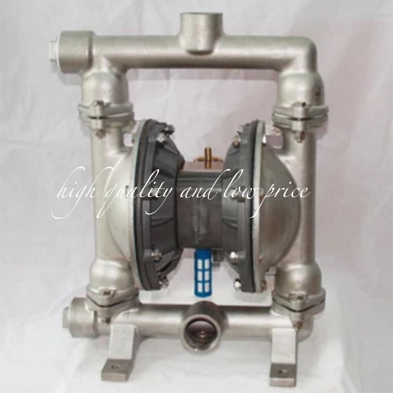 QBY-25 Natural Colour 304 stainless steel pneumatic diaphragm pump with F46 diaphragmQBY-25 Natural Colour 304 stainless steel pneumatic diaphragm pump with F46 diaphragm