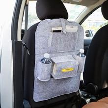 Multi-Pocket Travel Storage Bag Car Back Seat Storage Felt Organizer Trash Net Holder Hanger for Auto Capacity Storage Pouch