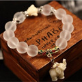 Natural matte crystal bracelets for women fashion super sweet elephant women bracelet wholesale retail