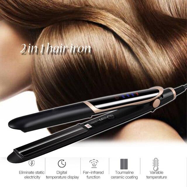 المهنية مكواة فرد الشعر حديد مسطح ملقط ل مكواة لفرد الشعر مستقيم التصميم أدوات مكواة تجعيد تمويج