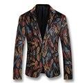 2016 nuevos hombres Blazers moda Casual Herren Anzug Veste De Loisir trajes De vestir hombre moda Casual Slim Fit muesca solapa Blazers