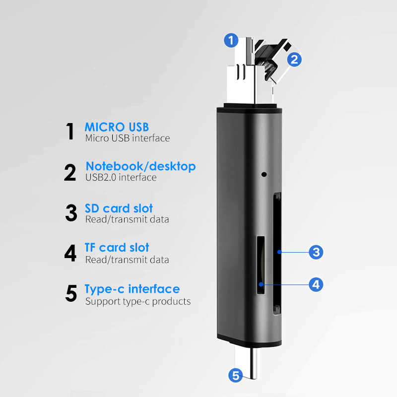 قارئ البطاقات sd مايكرو SD TF بطاقة USB sd محول TF بطاقة OTG محول متعدد الوظائف cardreader الذاكرة الذكية قارئ بطاقة USB